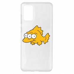 Чехол для Samsung S20+ Simpsons three eyed fish