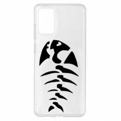 Чохол для Samsung S20+ скелет рибки