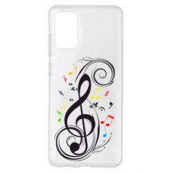 Чехол для Samsung S20+ Скрипичный ключ