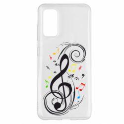 Чехол для Samsung S20 Скрипичный ключ