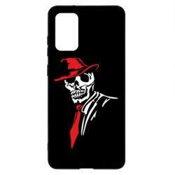 Чехол для Samsung S20+ Skull in a hat with a tie