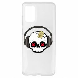 Чохол для Samsung S20+ Skull in headphones 1
