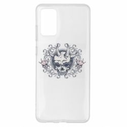 Чохол для Samsung S20+ Skull with horns and patterns