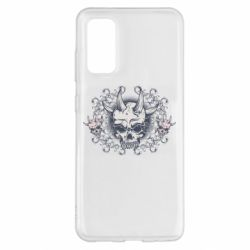 Чохол для Samsung S20 Skull with horns and patterns
