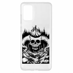 Чохол для Samsung S20+ Skull with horns in the forest