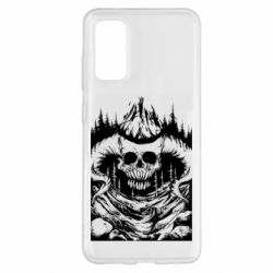 Чохол для Samsung S20 Skull with horns in the forest