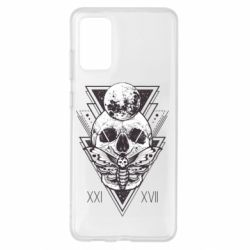 Чохол для Samsung S20+ Skull with insect