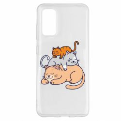Чехол для Samsung S20 Sleeping cats