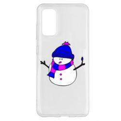 Чохол для Samsung S20 Сніговик