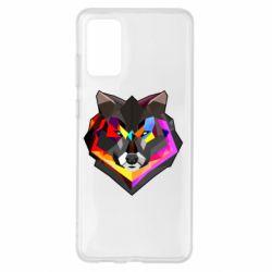 Чехол для Samsung S20+ Сolorful wolf