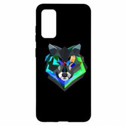 Чехол для Samsung S20 Сolorful wolf