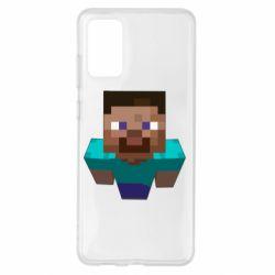 Чехол для Samsung S20+ Steve from Minecraft