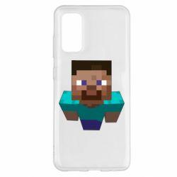 Чехол для Samsung S20 Steve from Minecraft