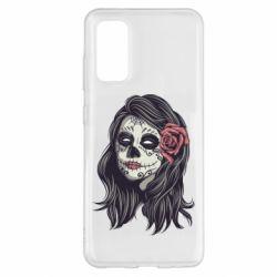 Чохол для Samsung S20 Sugar girl with a rose
