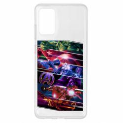 Чехол для Samsung S20+ Super power avengers