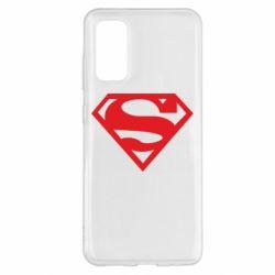 Чехол для Samsung S20 Superman одноцветный