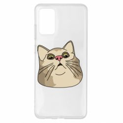Чехол для Samsung S20+ Surprised cat