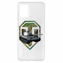 Чехол для Samsung S20+ Tank and WOT game logo