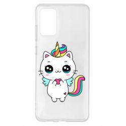 Чохол для Samsung S20+ The cat is unicorn