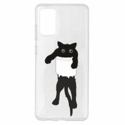 Чехол для Samsung S20+ The cat tore the pocket