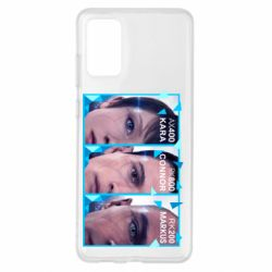 Чохол для Samsung S20+ The faces of androids game Detroit: Become human