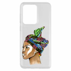 Чохол для Samsung S20 Ultra African girl in a color scarf