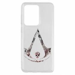 Чехол для Samsung S20 Ultra Assassins Creed and skull