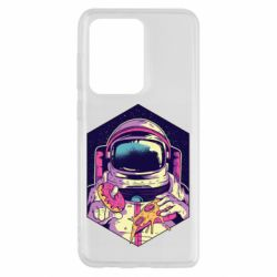 Чохол для Samsung S20 Ultra Astronaut with donut and pizza