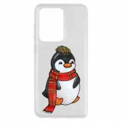 Чохол для Samsung S20 Ultra Baby penguin with a scarf