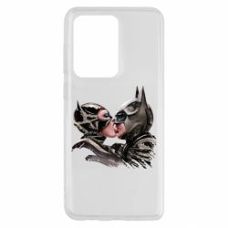 Чехол для Samsung S20 Ultra Batman and Catwoman Kiss