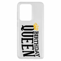 Чехол для Samsung S20 Ultra Birthday queen and crown yellow