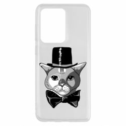 Чохол для Samsung S20 Ultra Black and white cat intellectual