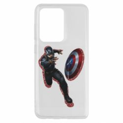 Чехол для Samsung S20 Ultra Captain america with red shadow