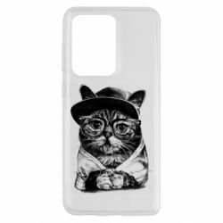 Чохол для Samsung S20 Ultra Cat in glasses and a cap