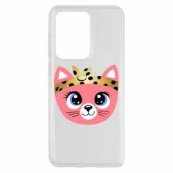 Чехол для Samsung S20 Ultra Cat pink