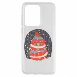 Чехол для Samsung S20 Ultra Christmas Sweet Penguin