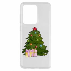 Чехол для Samsung S20 Ultra Christmas tree and gifts art
