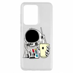 Чехол для Samsung S20 Ultra Cosmonaut with a coffee