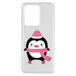 Чехол для Samsung S20 Ultra Cute Christmas penguin