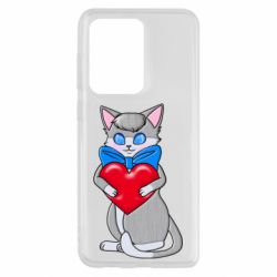 Чехол для Samsung S20 Ultra Cute kitten with a heart in its paws