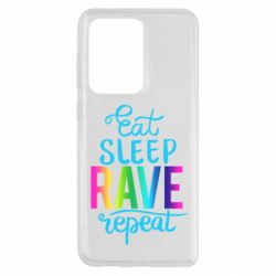 Чохол для Samsung S20 Ultra Eat, sleep, RAVE, repeat
