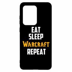 Чехол для Samsung S20 Ultra Eat sleep Warcraft repeat
