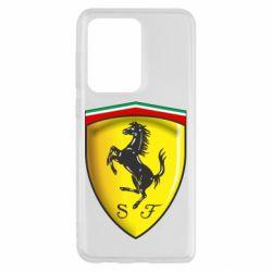 Чехол для Samsung S20 Ultra Ferrari 3D Logo