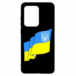 Чехол для Samsung S20 Ultra Флаг Украины с Гербом