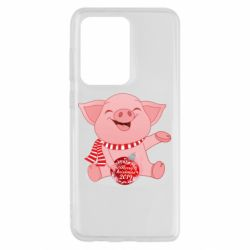 Чохол для Samsung S20 Ultra Funny pig with a Christmas toy