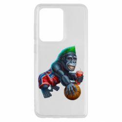 Чехол для Samsung S20 Ultra Gorilla and basketball ball