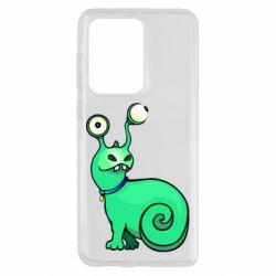 Чехол для Samsung S20 Ultra Green monster snail