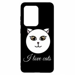 Чохол для Samsung S20 Ultra I love cats art