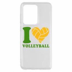 Чохол для Samsung S20 Ultra I love volleyball