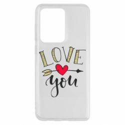 Чохол для Samsung S20 Ultra I love you and heart
